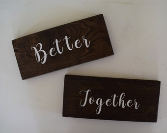 Better Together Rustic Sign- Wedding Better Together Woodland Sign  - Wedding Decor Sign - Better Together Save the Date Photo Prop