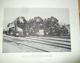six railroad prints from the Norfolk and western Railway, train prints, 6 prints