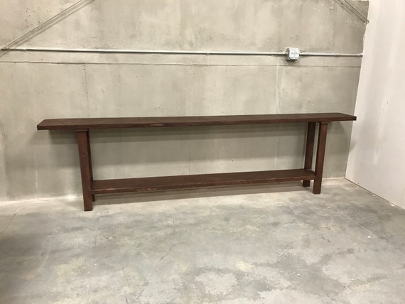 "Ready to ship 110"" long sofa table"