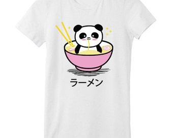 Panda Ramen Bowl T-SHIRT - Pink Bowl