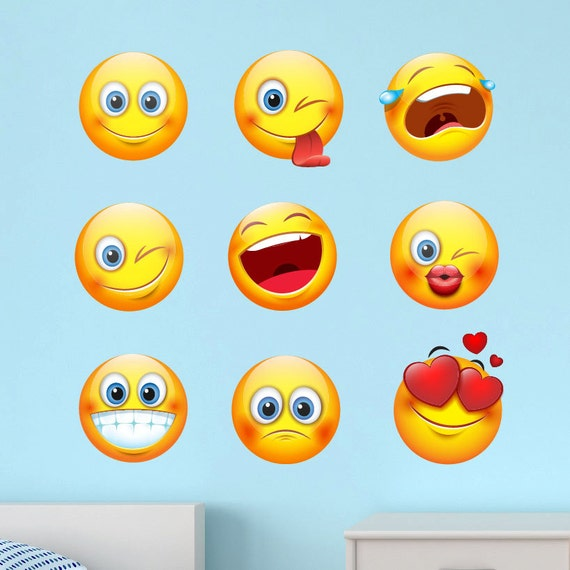Wall Clings Kids Funny Emoji Expressions