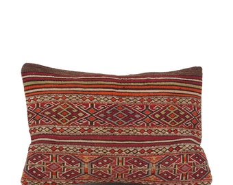 "19"" x 28"" Pillow Cover Kilim Pillow Vintage Kilim Pillow Hand Embroidered Pillow FAST SHIPMENT with ups or fedex - 10836"