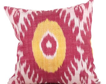 20 x 20 Pillow Cover Ikat Pillow Cover Old Ikat Pillow Cover Throw Pillow Decorative Pillow FAST SHIPMENT with ups or fedex - 09097