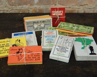 Vintage Game Pieces Paper Ephemera/ Altered Art