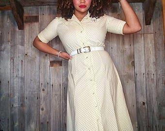Marilyn Dress - custom handmade from 1940s vintage pattern