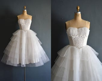 Edna / 50s wedding dress / vintage 1950s wedding dress