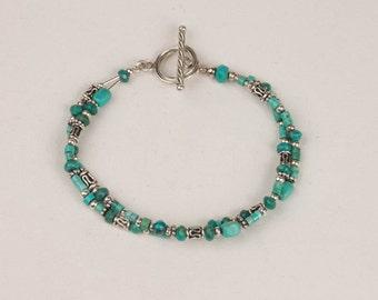 Two Strand Turquoise Bracelet
