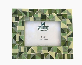 Green Mosaic Picture Frame