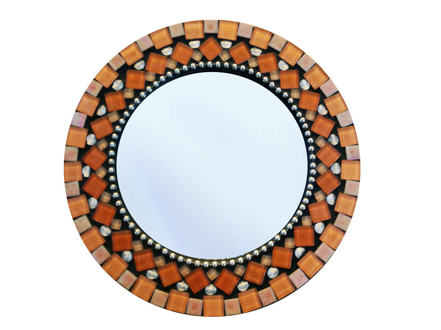 Orange wall mirror image collections home wall decoration ideas round wall mirror mosaic mirror orange and black zoom amipublicfo image collections amipublicfo Gallery