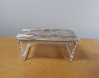 1:12 Scale Modern Industrial Chic Wooden Dining Table
