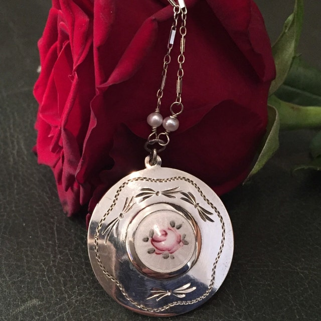 Handcrafted jewelry antique lockets vintage by audreysparrow for Audry rose jewelry reviews