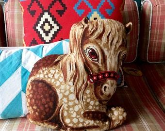 Crazy Homemade Vintage Pony Pillow