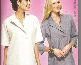 Kwik Sew 3896 new and uncut size Xsmall - Xlarge womans asymetrical blouse
