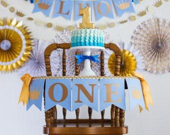 LITTLE PRINCE BANNER for highchair / 1st Birthday Boy / One Highchair Banner / Little prince banner / Little prince birthday. First birthday