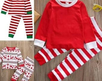 Girls christmas pajamas – Etsy