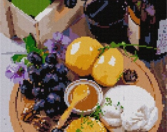 Needlepoint Kit or Canvas: Wine And Honey