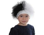 Cruella De Vil / Baby or Adult hat /  Beanie Wig  /   fuzzy hat  / Baby costume /  Halloween  /  Cruella De Vil costume / Black and white