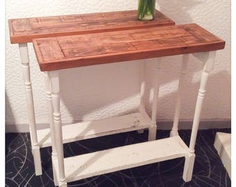 Rustic Reclaimed Wood Console Tables Country Shabby Chic