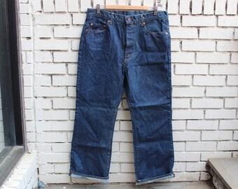LEVI STRAUSS 517 Denim Jeans Pants 38x29 Outdoor Warm Vtg Blue