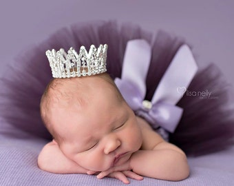 Newborn Crown, newborn crown photo prop, Photo Prop, Tiara - Hadley, baby crown, photography prop, crystal crown