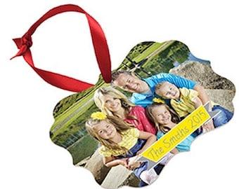 Christmas Photo Ornament - Holiday Gift -  Family photo Gift - Custom Ornament - Wedding Photo gift - Personalized  ornament - Keepsake Gift