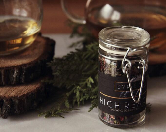 Featured listing image: EYRIE CO. // High Reaches Signature Premium Tea Blend // Smoke, Cedar, Rose, Juniper Berry, Peppermint