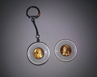 1 Silverplated Penny Keychain