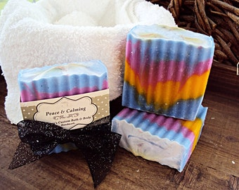 Peace & Calming Soap, Cold Process Soap, Handmade Soap, Earthy Soap, Essential Oils, Body Soap, Soap Bra