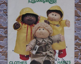 Vintage Cabbage Patch Kids Clothing Pattern-1985