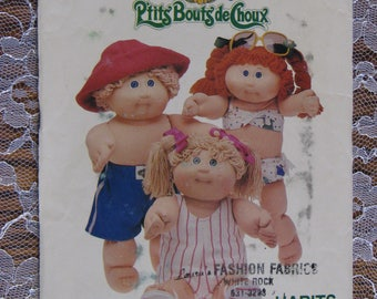 Vintage Cabbage Patch Kids Pattern From-1985