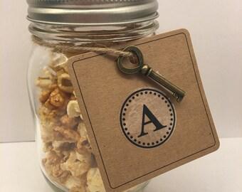 Custom Letter caramel corn favor