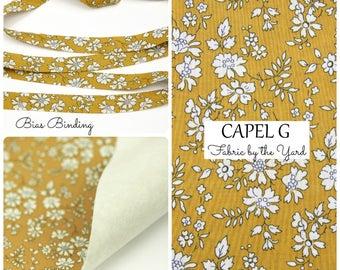 Liberty of London Tana Lawn Fabric Capel G // Liberty Bias Binding // Liberty Yardage // Liberty Fabric Felt // Felt Backed Fabric