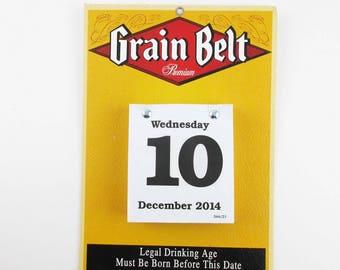 A 'Grain Belt' Beer Calendar - Wall Calendar - Breweriana Wall Advertising - Grain Belt Calendar From 2014 to 2015