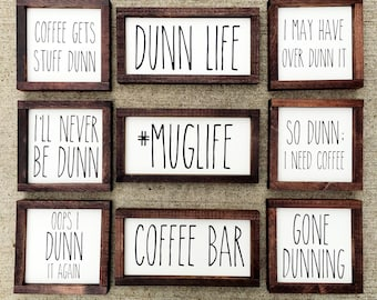 Rae Dunn inspired painted solid wood signs