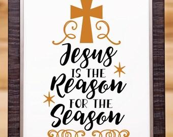 Christmas wall art, Christmas Decor, Christmas, Jesus Wall Art, Christian Wall Art, Christmas gift, Digital art, Christmas decoration