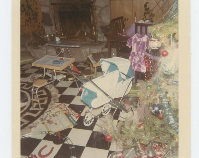 Kodacolor Print 1966 Vintage Snapshot Photo: Christmas (71544)