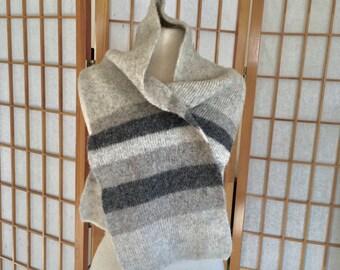 Vintage Icelandic Wool Scarf Made in Iceland by Hilda