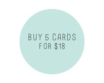 Buy 5 Cards - Mix & Match