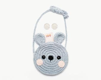 Crochet The Rabbit Shoulder Bag/ Mini bag/ Purse/ Pouches/ Bunny Bag