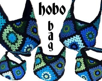 Crochet Bag * HoBo BaG *  Granny Square - crochet hobobag