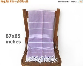 Xmas Sale Throw Blanket Bedspread Sofa Cover Turkish Bath Towel Tablecloth Furniture Throw Picnic Blanket LILAC XX LARGE 220 x 166 cm