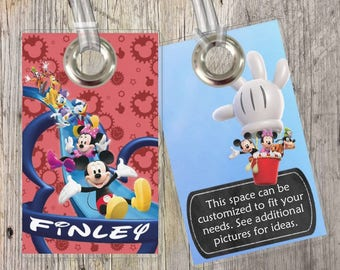 Mickey Mouse Clubhouse - Mickey Mouse - Disney - Custom Tags for Backpacks, Luggage, Diaper Bags & More!
