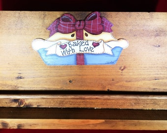 Wood Cookbook Holder Stand ~ Hand Crafted and Painted