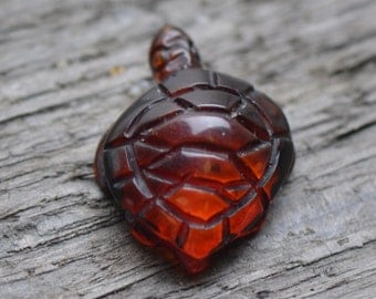 Exclusive Amber Turtle Statue - Handmade Amber Carvings - Authentic Baltic Amber