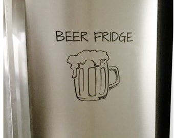 Beer Fridge Decal - Refrigerator Vinyl Decal - Removable Sticker for Fridge - Fun Decal for Kitchen - Funny Beer Lover Decal -
