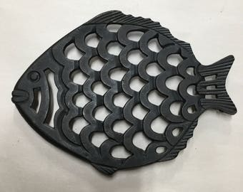 Vintage Cast Iron Fish Trivet