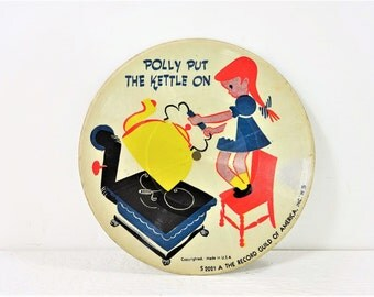 Vintage Record The Record Guild of America Inc. Nursery Rhyme Record