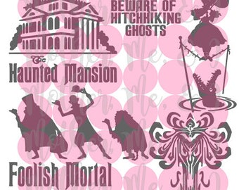 The Haunted Mansion / Foolish Mortal/Ghost SVG DXF PNG Cut File Instant Download Cricut and Silhouette Design for Shirts, Scrapbooks Disney