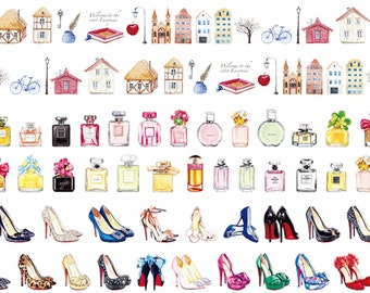 1 Roll of Limited Edition Washi Tape (Pick 1): European Town, Perfume, Or High Heel