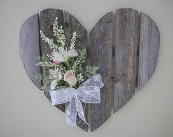 Wooden rustic wedding heart, Heart wall hanging, Rustic heart decor, Wood heart door hanger, Cottage heart, Wood shaped heart, Wooden heart